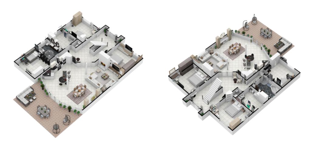Un plan 3D permet de se projeter dans l'espace et de mieux vendre une maison